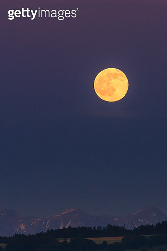 Full Moon over the Swiss Prealps - gettyimageskorea