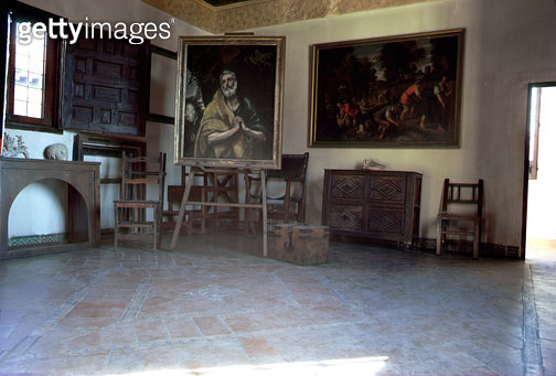 <b>Title</b> : Interior of El Greco's (1541-1614) studio (photo)<br><b>Medium</b> : <br><b>Location</b> : Casa y Museo del Greco, Toledo, Spain<br> - gettyimageskorea