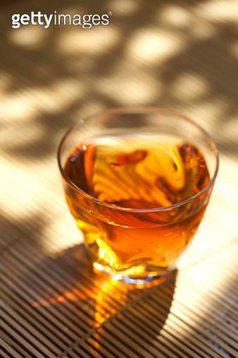 Glass of tea, close up, Kanagawa prefecture, Japan - gettyimageskorea