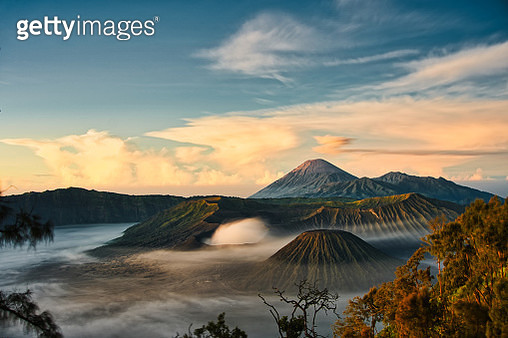 Sunrise in moring in Crater Mount Bromo volcano at morning - gettyimageskorea