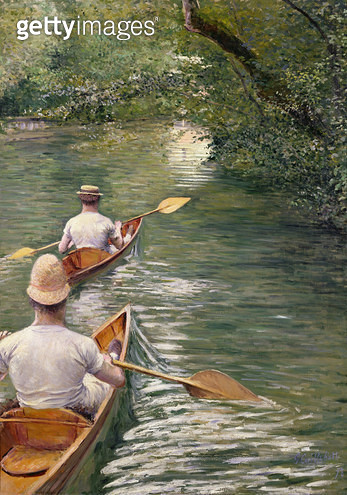 <b>Title</b> : The Canoes, 1878 (oil on canvas)<br><b>Medium</b> : oil on canvas<br><b>Location</b> : Musee des Beaux-Arts, Rennes, France<br> - gettyimageskorea