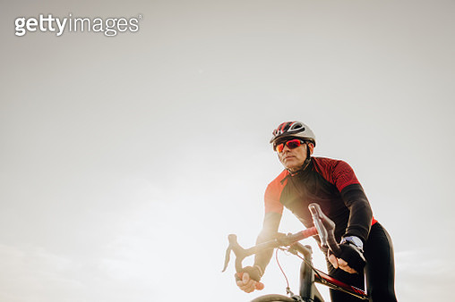 Photo of a professional triathlete during the training - gettyimageskorea