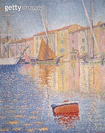 <b>Title</b> : The Red Buoy, Saint Tropez, 1895 (oil on canvas)<br><b>Medium</b> : oil on canvas<br><b>Location</b> : Musee d'Orsay, Paris, France<br> - gettyimageskorea