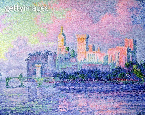 <b>Title</b> : The Chateau des Papes, Avignon, 1900 (oil on canvas)<br><b>Medium</b> : oil on canvas<br><b>Location</b> : Musee d'Orsay, Paris, France<br> - gettyimageskorea