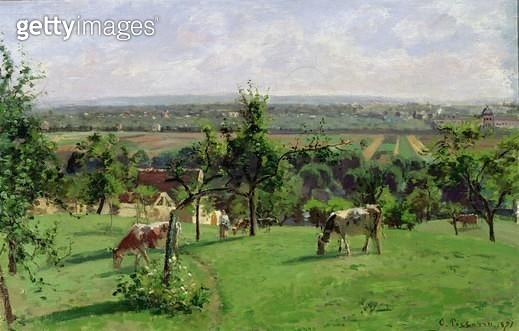 <b>Title</b> : Hillside of Vesinet, Yvelines, 1871 (oil on canvas)<br><b>Medium</b> : oil on canvas<br><b>Location</b> : Musee d'Orsay, Paris, France<br> - gettyimageskorea