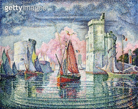 <b>Title</b> : The Port at La Rochelle, 1921 (oil on canvas)<br><b>Medium</b> : oil on canvas<br><b>Location</b> : Musee d'Orsay, Paris, France<br> - gettyimageskorea