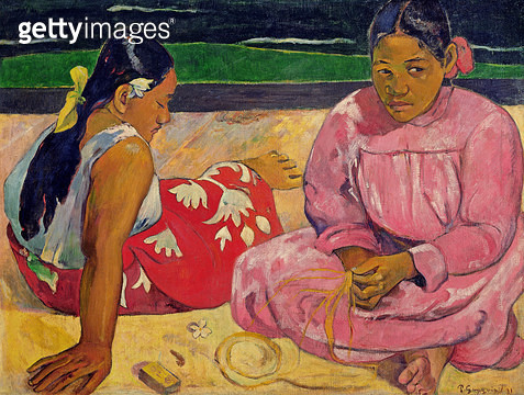 <b>Title</b> : Women of Tahiti, On the Beach, 1891 (oil on canvas)<br><b>Medium</b> : oil on canvas<br><b>Location</b> : Musee d'Orsay, Paris, France<br> - gettyimageskorea