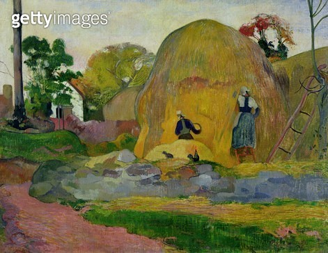 <b>Title</b> : Yellow Haystacks, or Golden Harvest, 1889 (oil on canvas)<br><b>Medium</b> : oil on canvas<br><b>Location</b> : Musee d'Orsay, Paris, France<br> - gettyimageskorea