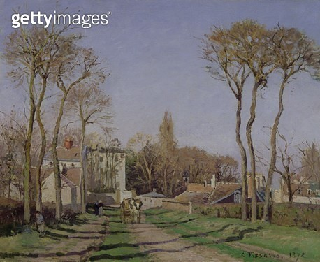 <b>Title</b> : Entrance to the Village of Voisins, Yvelines, 1872 (oil on canvas)<br><b>Medium</b> : oil on canvas<br><b>Location</b> : Musee d'Orsay, Paris, France<br> - gettyimageskorea
