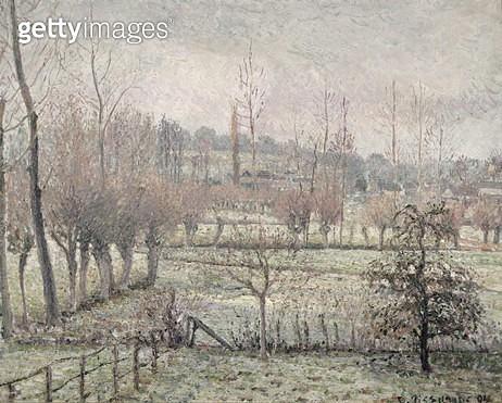 <b>Title</b> : Snow Effect at Eragny, 1894 (oil on canvas)<br><b>Medium</b> : oil on canvas<br><b>Location</b> : Musee d'Orsay, Paris, France<br> - gettyimageskorea
