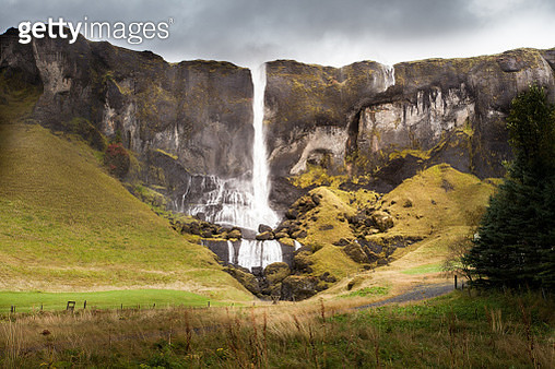Cold Water In Iceland. Waterfall In Rocky Mountains. Fresh And G - gettyimageskorea