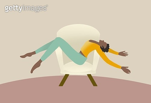 relax, women, feminine, stress, couch, stay home, stay at home, covid-19, stay comfy, comfortable, one person, confidence - gettyimageskorea