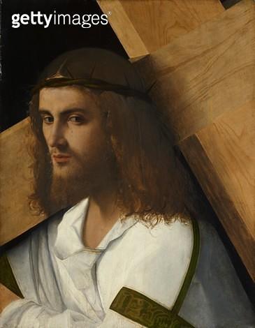 <b>Title</b> : Christ Carrying the Cross, c.1505-10 (oil on panel)<br><b>Medium</b> : oil on panel<br><b>Location</b> : Isabella Stewart Gardner Museum, Boston, MA, USA<br> - gettyimageskorea