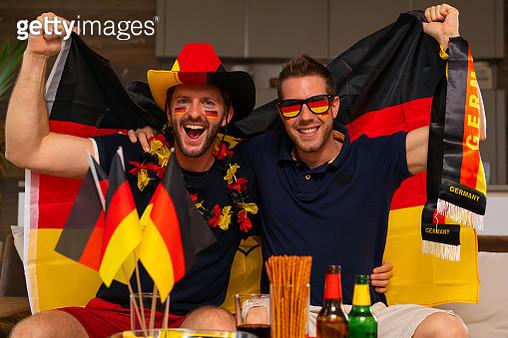two german soccer fans - gettyimageskorea