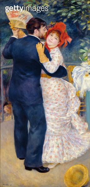 <b>Title</b> : A Dance in the Country, 1883 (oil on canvas)<br><b>Medium</b> : oil on canvas<br><b>Location</b> : Musee d'Orsay, Paris, France<br> - gettyimageskorea