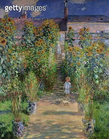 <b>Title</b> : The Artist's Garden at Vetheuil, 1880 (oil on canvas)<br><b>Medium</b> : oil on canvas<br><b>Location</b> : National Gallery of Art, Washington DC, USA<br> - gettyimageskorea