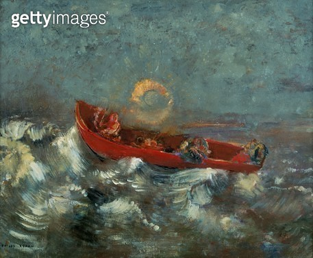 <b>Title</b> : The Red Boat, 1905 (oil on canvas)<br><b>Medium</b> : oil on canvas<br><b>Location</b> : Musee d'Orsay, Paris, France<br> - gettyimageskorea