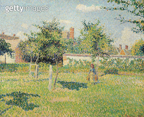 <b>Title</b> : Woman in the Meadow at Eragny, Spring, 1887 (oil on canvas)<br><b>Medium</b> : oil on canvas<br><b>Location</b> : Musee d'Orsay, Paris, France<br> - gettyimageskorea