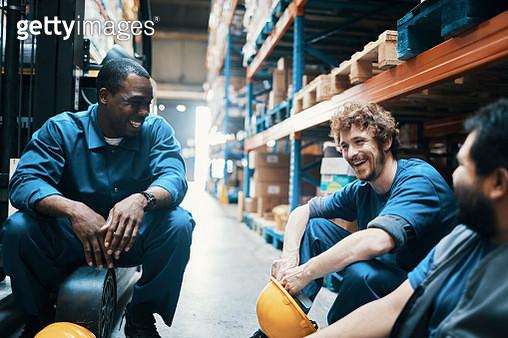 Workers relaxing - gettyimageskorea