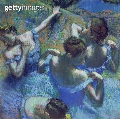<b>Title</b> : Blue Dancers, c.1899 (pastel)<br><b>Medium</b> : pastel on paper<br><b>Location</b> : Pushkin Museum, Moscow, Russia<br> - gettyimageskorea