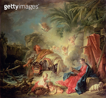<b>Title</b> : The Rest on the Flight into Egypt<br><b>Medium</b> : <br><b>Location</b> : Hermitage, St. Petersburg, Russia<br> - gettyimageskorea