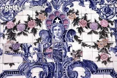 <b>Title</b> : Art Nouveau tiles in the Saldanha area (ceramic)<br><b>Medium</b> : ceramic<br><b>Location</b> : Lisbon, Portugal<br> - gettyimageskorea
