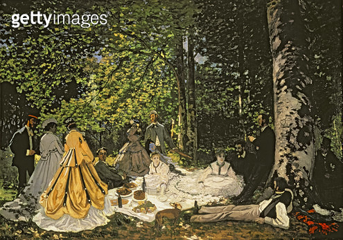 <b>Title</b> : Le Dejeuner sur l'Herbe, 1866 (oil on canvas)<br><b>Medium</b> : oil on canvas<br><b>Location</b> : Pushkin Museum, Moscow, Russia<br> - gettyimageskorea