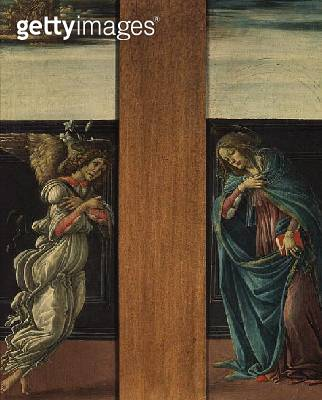 <b>Title</b> : The Annunciation (tempera on panel)<br><b>Medium</b> : tempera on panel<br><b>Location</b> : Pushkin Museum, Moscow, Russia<br> - gettyimageskorea