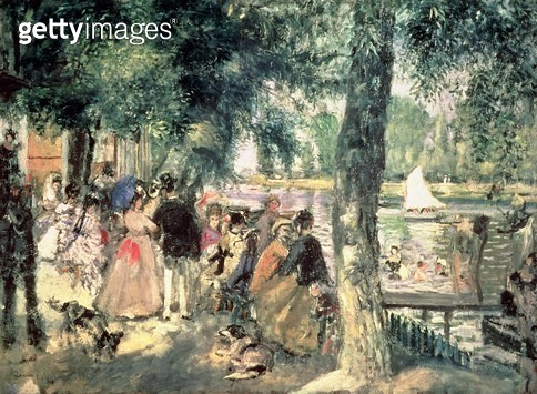 <b>Title</b> : Bathing on the Seine or, La Grenouillere, c.1869 (oil on canvas)<br><b>Medium</b> : oil on canvas<br><b>Location</b> : Pushkin Museum, Moscow, Russia<br> - gettyimageskorea