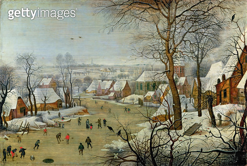 <b>Title</b> : Winter Landscape with Skaters and a Bird Trap<br><b>Medium</b> : oil on canvas<br><b>Location</b> : Hermitage, St. Petersburg, Russia<br> - gettyimageskorea