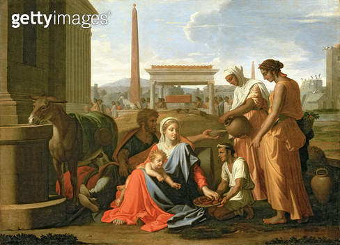 <b>Title</b> : The Rest on the Flight into Egypt<br><b>Medium</b> : oil on canvas<br><b>Location</b> : Hermitage, St. Petersburg, Russia<br> - gettyimageskorea