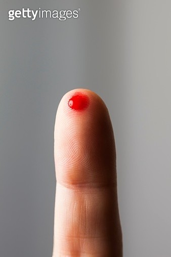 Blood on fingertip - gettyimageskorea