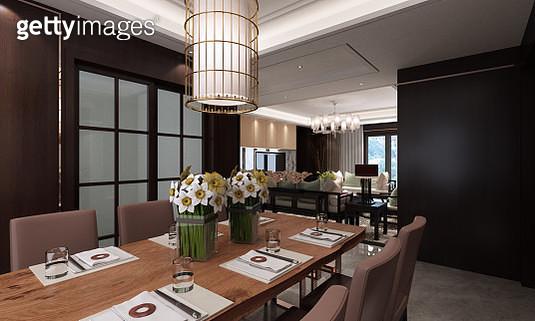 Modern Dining Room Interior - gettyimageskorea