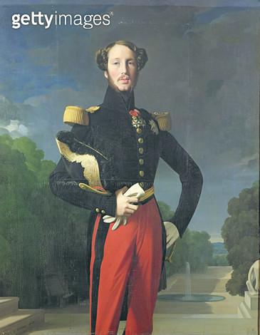 <b>Title</b> : Ferdinand-Philippe (1810-42) Duke of Orleans in the Park at Saint-Cloud, 1843 (oil on canvas)Additional Infodevant le parc de St<br><b>Medium</b> : oil on canvas<br><b>Location</b> : Chateau de Versailles, France<br> - gettyimageskorea