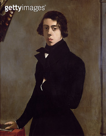 <b>Title</b> : Self Portrait, 1835 (oil on canvas)<br><b>Medium</b> : oil on canvas<br><b>Location</b> : Louvre, Paris, France<br> - gettyimageskorea