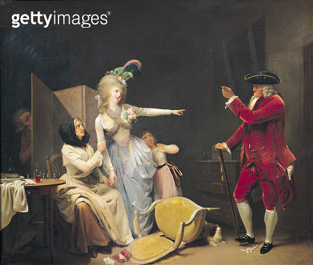 <b>Title</b> : The Jealous Old Man, 1791 (oil on canvas)<br><b>Medium</b> : oil on canvas<br><b>Location</b> : Musee de l'Hotel Sandelin, Saint-Omer, France<br> - gettyimageskorea