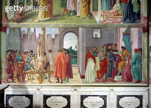 <b>Title</b> : The Dispute with Simon Mago and the Crucifixion of St. Peter, c.1480 (fresco)<br><b>Medium</b> : <br><b>Location</b> : Brancacci Chapel, Santa Maria del Carmine, Florence, Italy<br> - gettyimageskorea