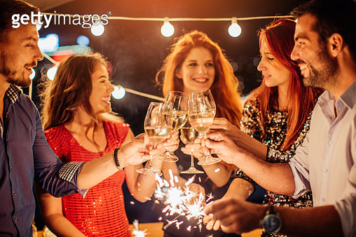Cheers for happy New Year - gettyimageskorea