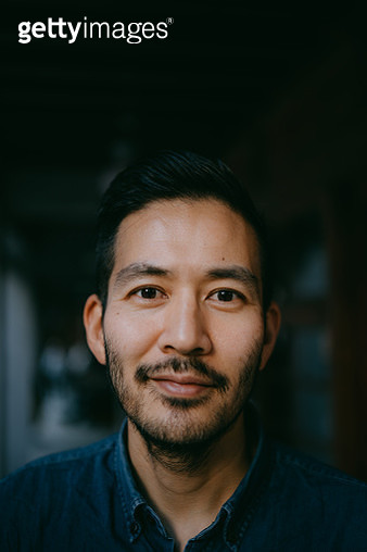 Portrait of Japanese man smiling at camera - gettyimageskorea