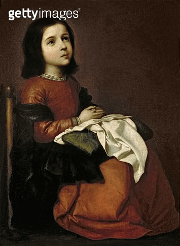 <b>Title</b> : The Childhood of the Virgin, c.1660 (oil on canvas)<br><b>Medium</b> : oil on canvas<br><b>Location</b> : Hermitage, St. Petersburg, Russia<br> - gettyimageskorea
