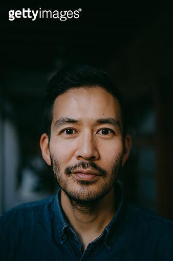 Portrait of Japanese man looking at camera - gettyimageskorea