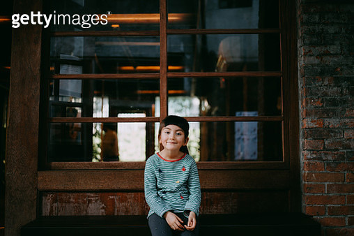 Cute young mixed race girl on street of Taiwan - gettyimageskorea