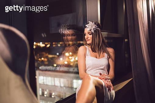 Beautiful woman posing in fashionable dress - gettyimageskorea