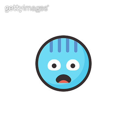 Vector illustration of a cute and colorful emoticon in line art style and flat design and colors. Perfect for design projects and social media, as well as mobile apps, online messaging apps and also as stickers for online chatting. - gettyimageskorea