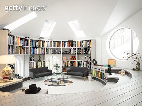 Warm and Cozy Attic Interior - gettyimageskorea