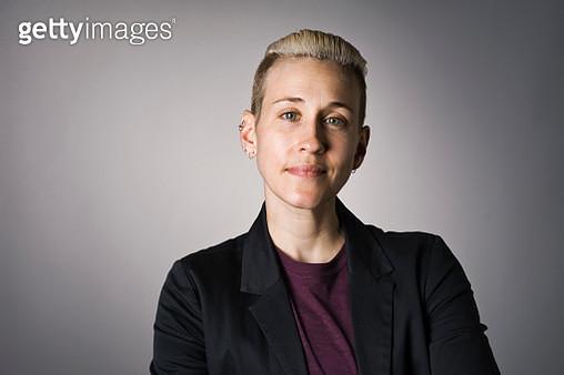 Portrait of Non-Binary Person - gettyimageskorea