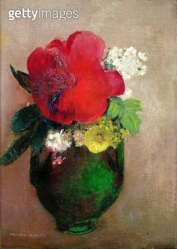 <b>Title</b> : The Red Poppy (oil on canvas)<br><b>Medium</b> : oil on canvas<br><b>Location</b> : Musee d'Orsay, Paris, France<br> - gettyimageskorea
