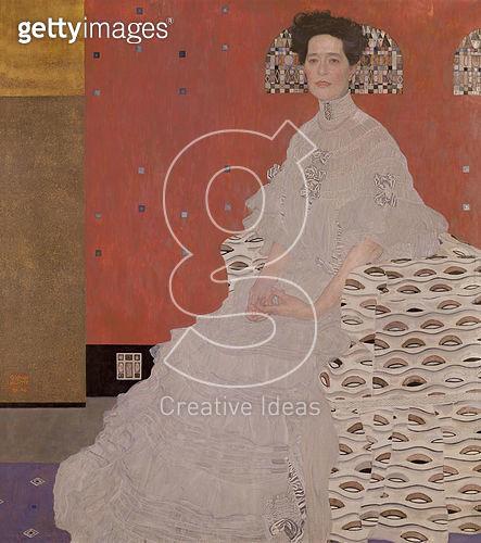 <b>Title</b> : Fritza von Riedler, 1906 (oil on canvas)<br><b>Medium</b> : oil on canvas<br><b>Location</b> : Osterreichische Galerie Belvedere, Vienna, Austria<br> - gettyimageskorea