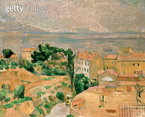 <b>Title</b> : View of L'Estaque<br><b>Medium</b> : <br><b>Location</b> : Private Collection<br> - gettyimageskorea