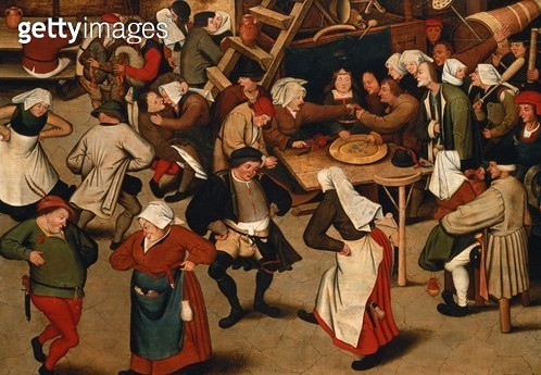 <b>Title</b> : Peasants Dancing at a Village Wedding<br><b>Medium</b> : <br><b>Location</b> : Private Collection<br> - gettyimageskorea